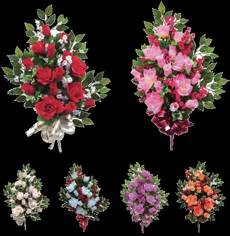Фото: Композиция из цветов на гроб малая