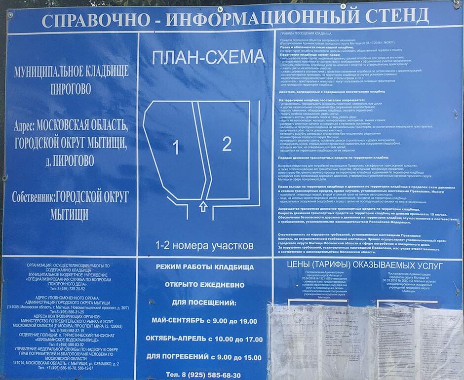 Пироговское кладбище. Фото 2
