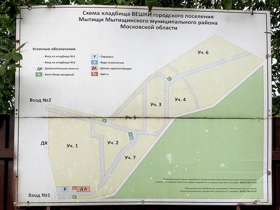 Вёшкинское кладбище. Фото 3